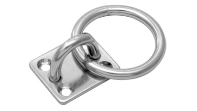 Stainless Rectangle Eye Pad with Ring