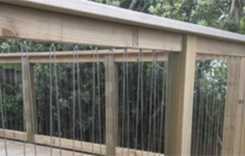 Stainless Wire Balustrade in Timber