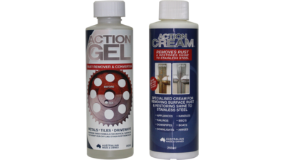 Action Gel and Cream Rust Remover for Stainless