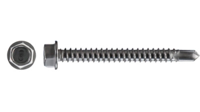 Stainless Hex Washer Face Tek Screw
