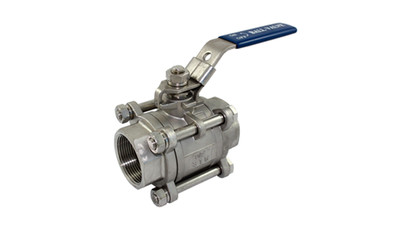 Stainless BSP 3 Piece Ball Valve